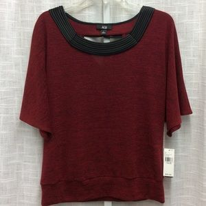 AGB Everlasting Red Top with Black Trim